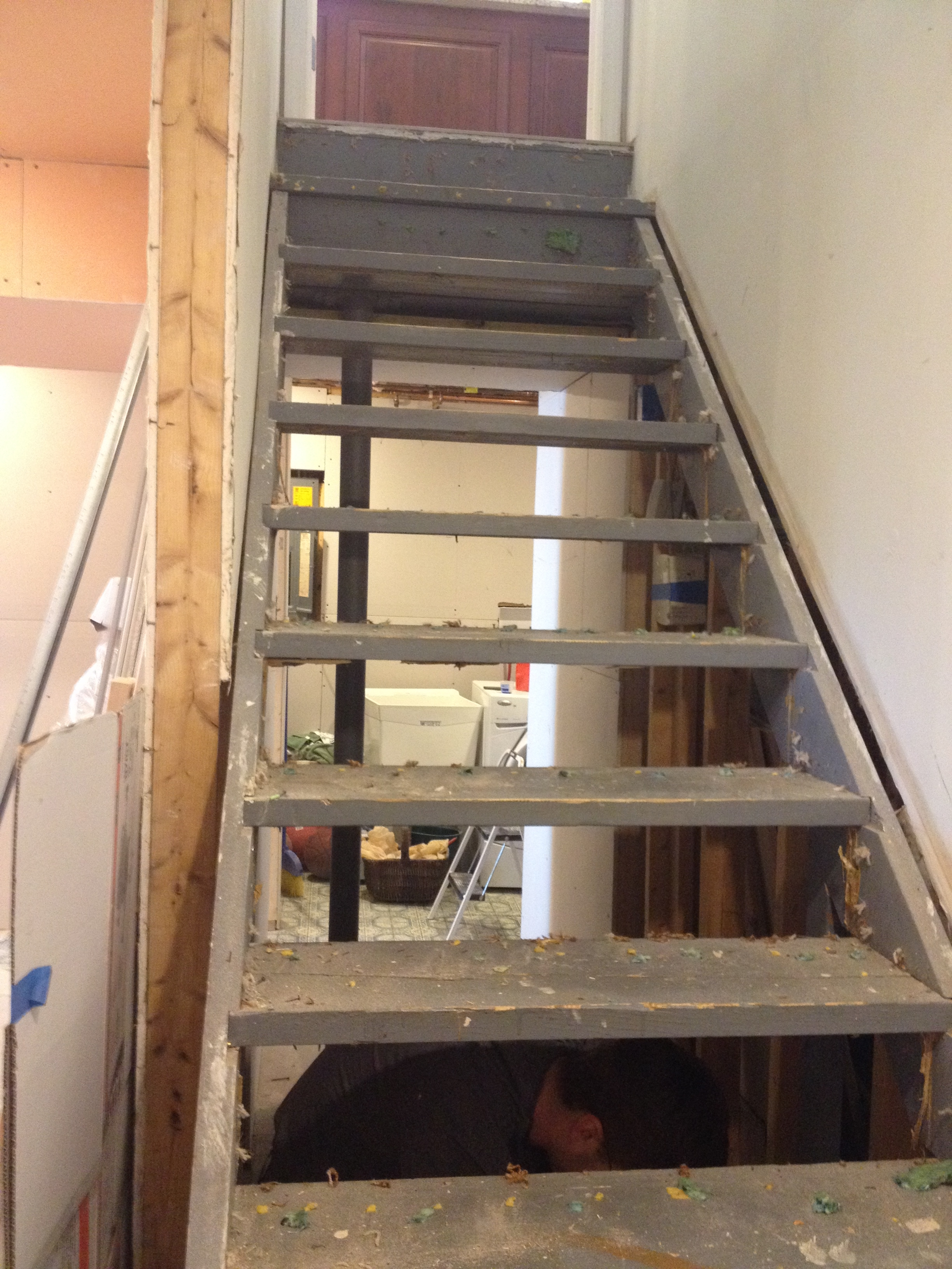 Building Stairs Maibe We Re Crazy   Carpet For Basement Stairs   Exterior   Finishing   Navy Blue   Herringbone   Berber
