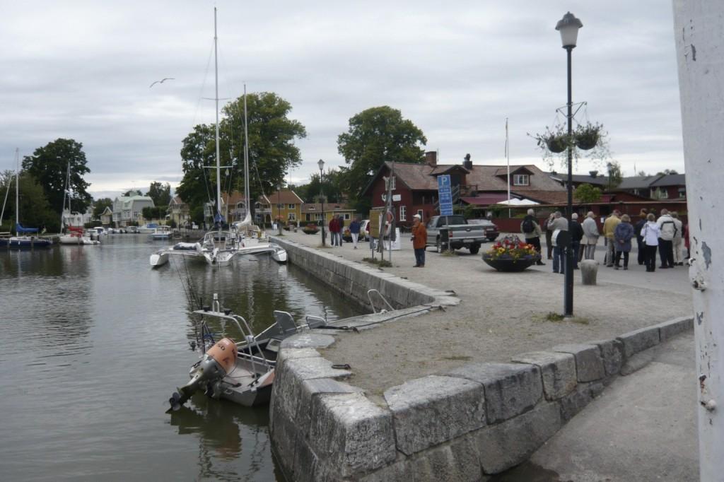 Göta kanal, Trosa et la tempête