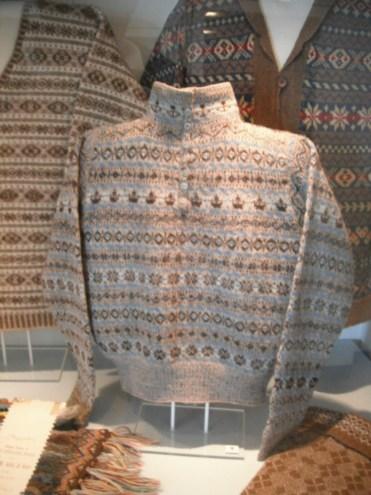 Pulls des Shetland au musée de Lerwick