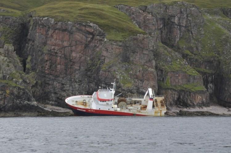 Epave d'un bateau de pêche français
