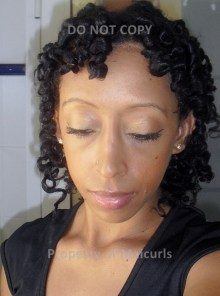 Bantu Knots and twists taken down view from front