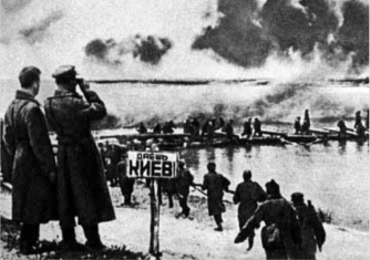 Soviet troops crossing the Dnieper [Dnipro River] November 13, 1943.