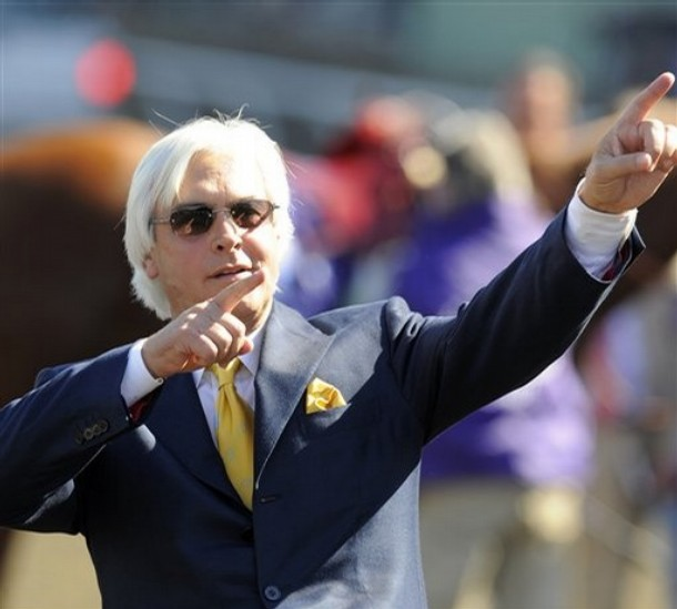 Newly-inducted Hall-of-Famer Bob Baffert broke #12 Marcello's maiden on Saturday.