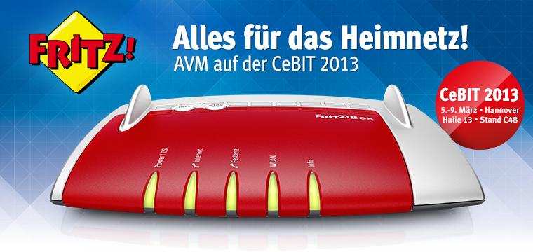 AVM Alles für das Heimnetz Cebit 2013