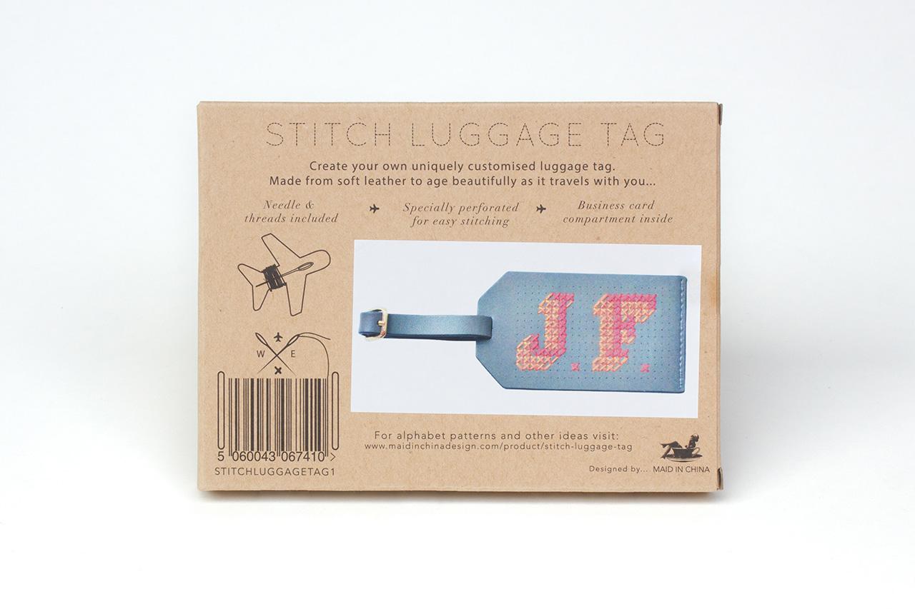 Stitch Luggage Tag - Maid In China Design