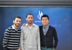 Spaceline team: Mohammad, Ahmad and Yifan.