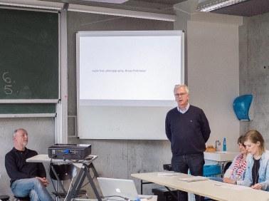 Mr. Klaus Pollmeier introducing his Elective Photography class.