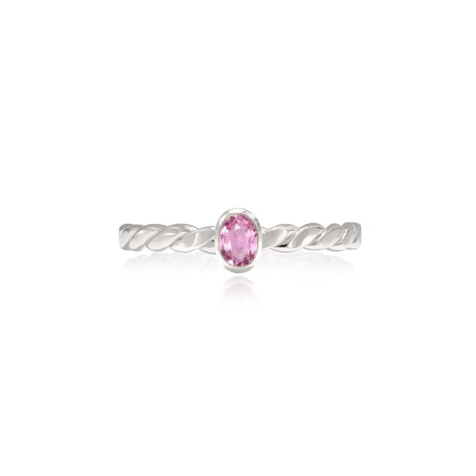 Oval Cut Pink Sapphire Ring
