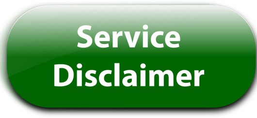 House Cleaning Service Disclaimer