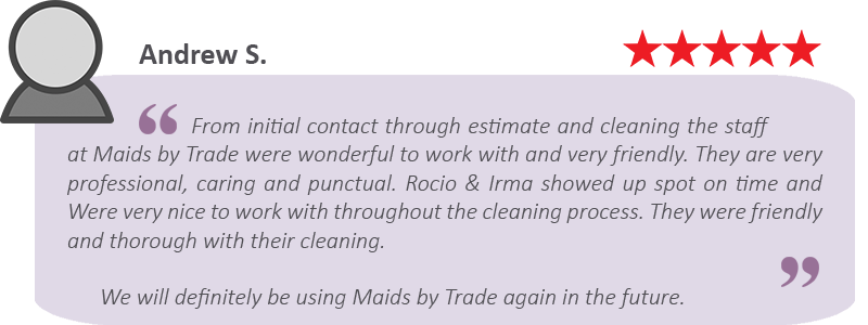 house cleaning review by Andrew