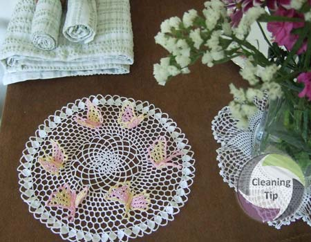How to Clean Crocheted Doilies
