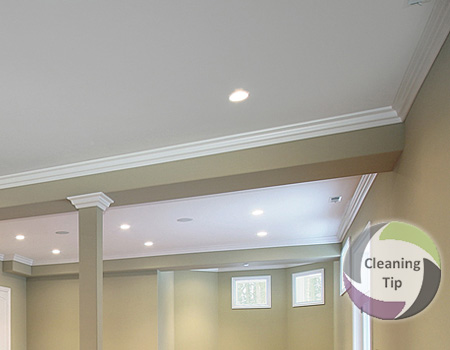How to Clean a Ceiling. a clean ceiling