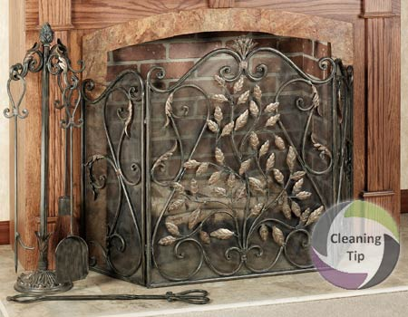 How to Clean a Fireplace Screen