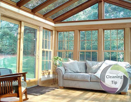 clean sunroom