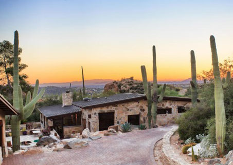 House in Catalina Foothills at Sunset