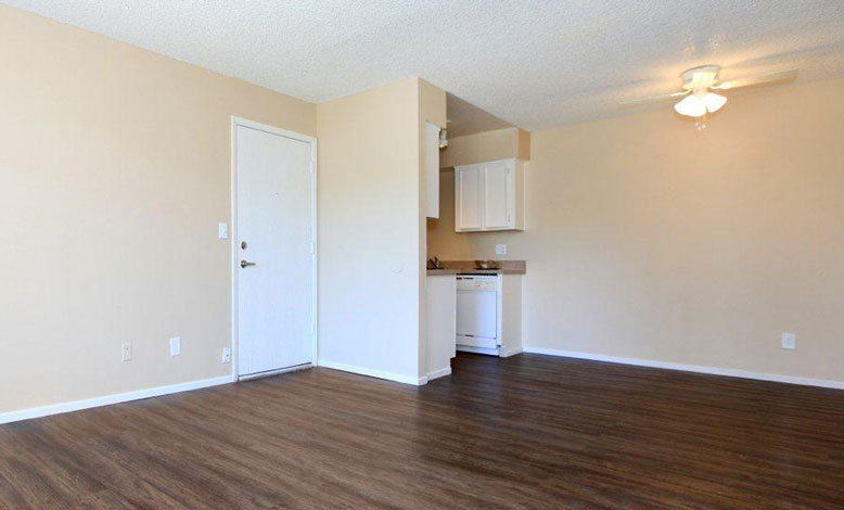 image of an empty, clean apartment