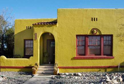 Yellow adobes home