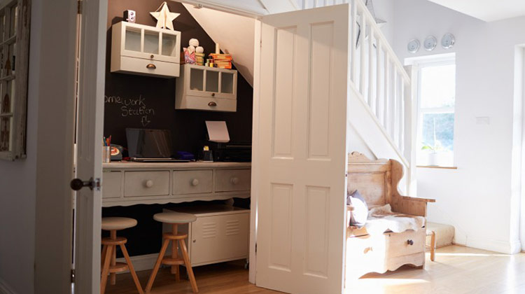 Turn Space Under the Staircase to a room