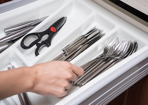 Utensil Drawer Cleaning—Effortlessly