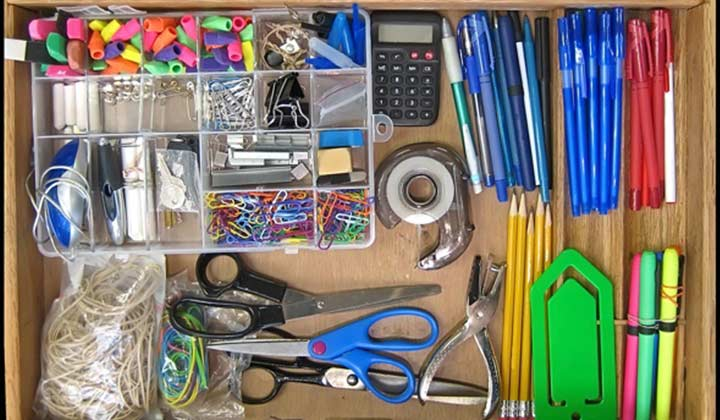 Organizing Home Office Drawers Tips and sort supplies