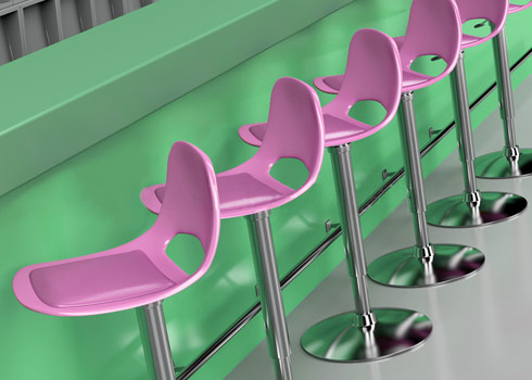Sit Back and Relax in Clean Bar Stools