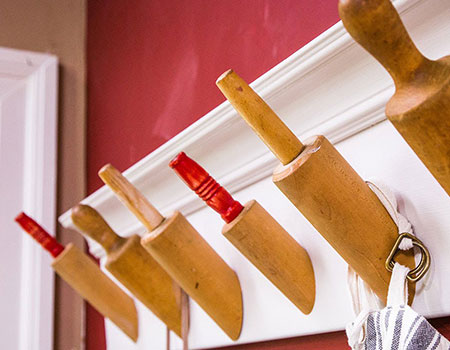 Repurpose Your Rolling Pins into Hanging Racks