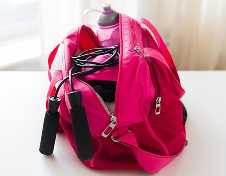 Organizing a Gym Bag items needed
