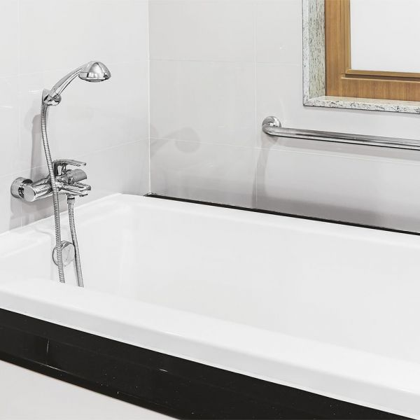 taryn 67 inch cast iron drop in tub no faucet drilling