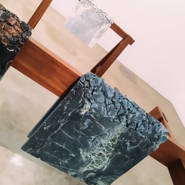 "Draped Marble from ""Backyard"" Analia Saban at Tanya Bonakdar Gallery New York image ©MAIERMOUL"