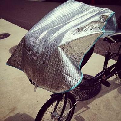 自転車 チャイルドシート 日よけカバー