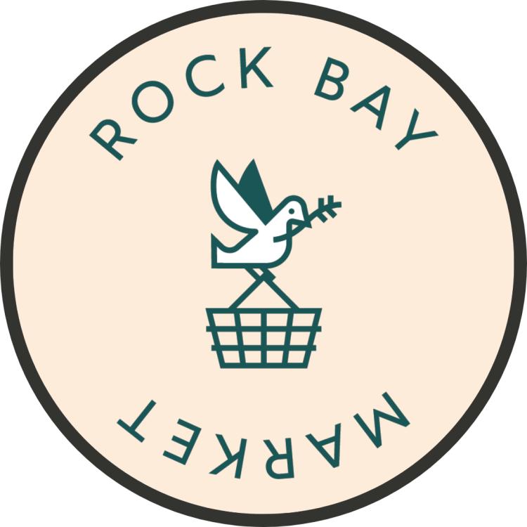 Logo for rock bay market store