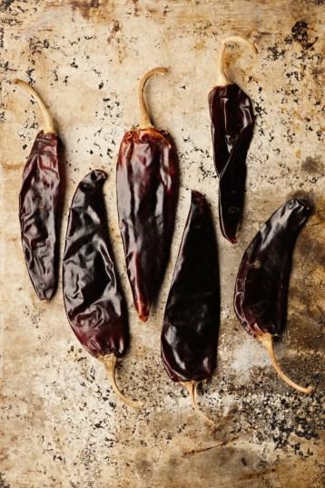 Guajilo salsa dried peppers