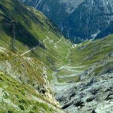 Das Stilfser Joch (auch Stilfserjoch, italienisch Passo dello Stelvio)