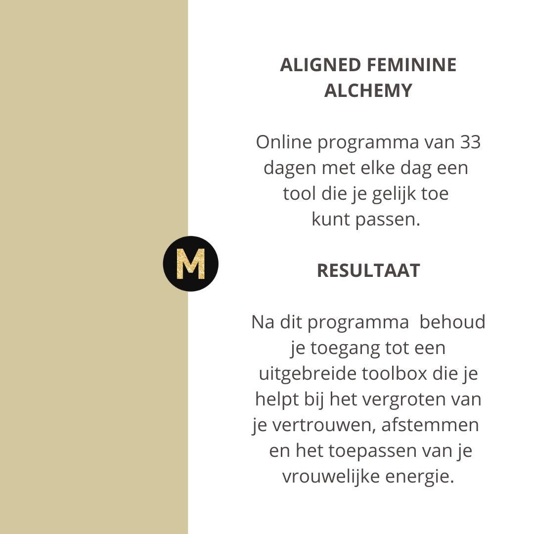 33 dagen aligned feminine alchemy
