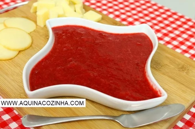 Geleia diet de morango