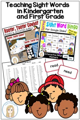 Teaching Sight Words in Kindergarten and First Grade Pin