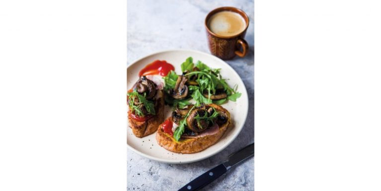 Bacon on Eggy Bread with Field Mushrooms, Brian McDermott Donegal Table, brunch, i love cooking ireland