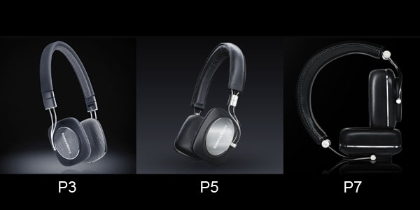 Bowers & Wilkins P3, P5, and P7 headphones
