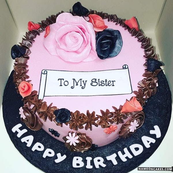 Happy Birthday To My Sister Cake Images