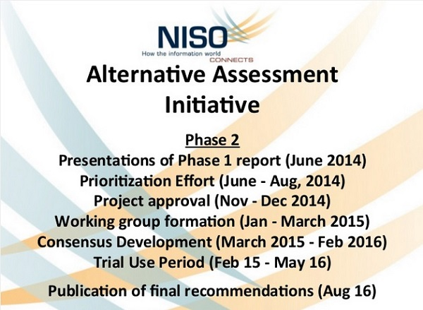 NISO Alternative Assessment Initiative Phase 2