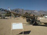 I went to the White Sands Missile Range, famous as being the Atomic Bomb proving grounds. The military base that's still there has a cool walk that shows decades of missiles that have been tested there. This is a Howitzer, which is what my Dad spent a lot of time with in Vietnam. It was cool to see the massiveness of all these things, and stand right next to them.