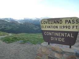 Not to be confused with Loveland the town. I randomly ran into a coworker on the short hike from the parking pullout area. It hailed. For about 10 seconds.