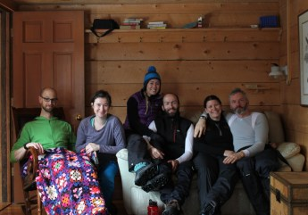 Handsomest damn group that ever stayed in Carl's Cabin.