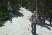 I was wearing shorts, for the record. This was the trail getting super close to Thunder Lake.