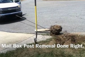 Removal of old mailbox