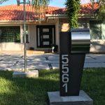 Modern Curbside Mailbox Stainless Steel Modern Locking