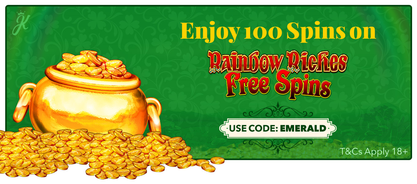 100 spins on rainbow riches freepsins