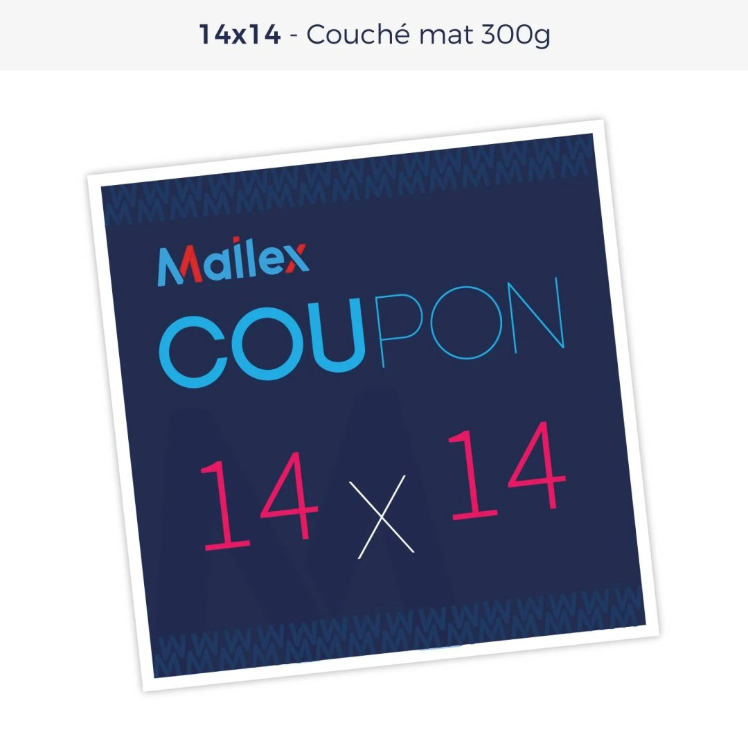Coupon 14x14 Couché mat 300g