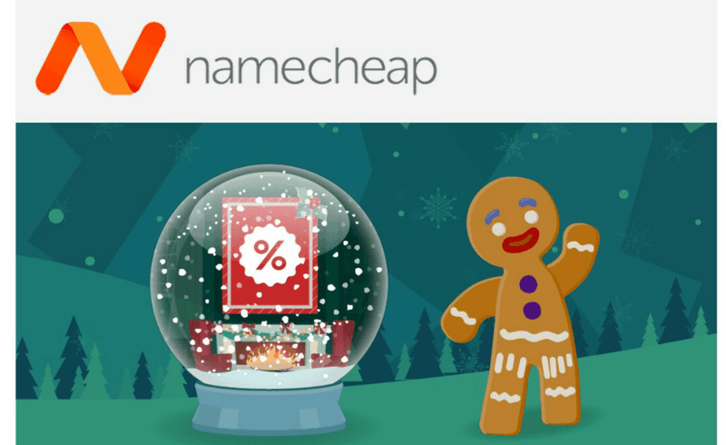 Namecheap's emails are colourful