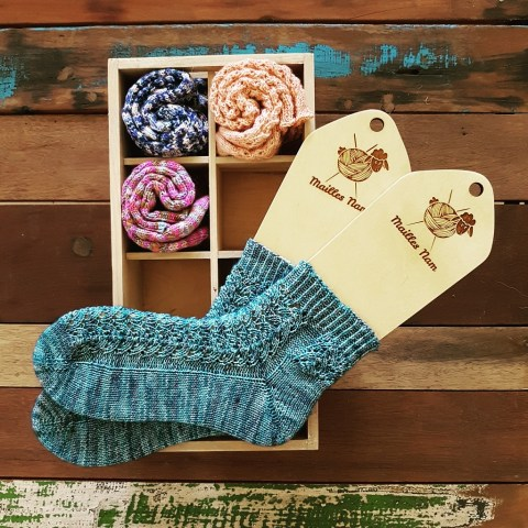 Tricot Chaussettes Ocean Waves